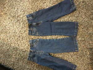 Jeans toddler 2T- both pairs $5