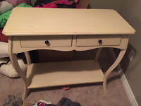 Shabby Chic Table with Drawers