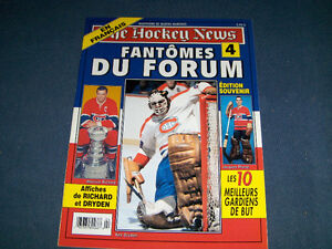 THE HOCKEY NEWS-FANTOMES DU FORUM #4-PLANTE-DRYDEN+