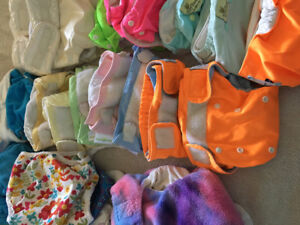 25+ Cloth Diapers, Swim Diapers, Covers, and Inserts. $75 OBO