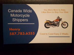 Motorcycle Shipping Cross Canada
