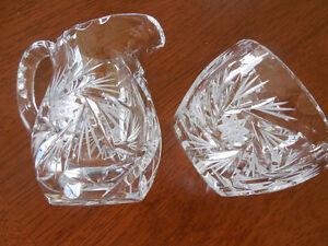 Pinwheel Crystal Sugar & Creamer