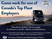 Class 1 Drivers Needed for BC & SK Trips