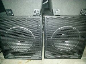 "DJ Subwoofer cabs with 15"" Eminence Impero Speaker (Pair)"