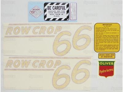 Oliver 66 Row Crop Tractor Decal Set Die-cut Vinyl Labeltransfers Kit