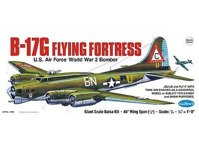 Guillow's Model Airplane Kit WW II Boeing B-17G Flying Fortress  GUI-2002