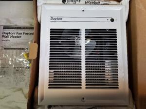 Fan heater wall