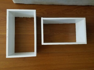 PAIR of CUBE BOX WALL SHELVES ... GREAT CONDITION!