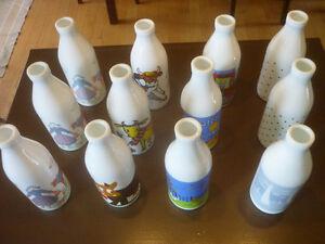 Pinte de lait, bouteille, cruche, pot, jarre a lait