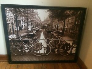 Large photograph in frame