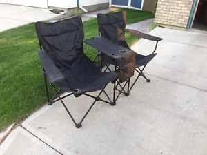 Two seater folding camp chair