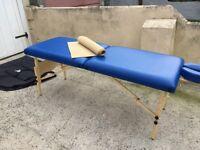 Ellan, oak works mobile massage table