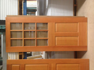 34 by 80 Clear Pine Door With Glass