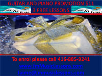 PIANO AND GUITAR LESSONS CHRISTMAS PROMOTION 3 FREE LESSONS