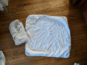 2 cotton baby towels