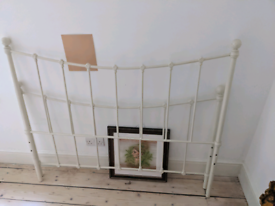 Double bed frame (optional mattress - has mark on one side)