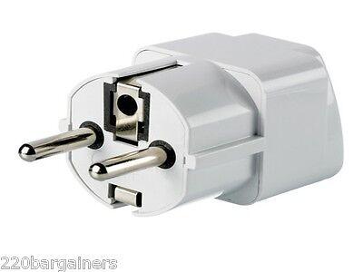 Grounded Travel Plug Adapter USA US AU To EU EUR Germany France Europe Type E/F