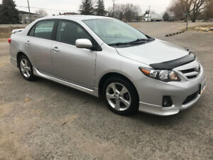 2013 corolla s sport and trim package
