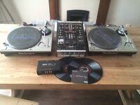 2 x Technics 1200 Mk5, Urei 1601e & Serato SL1