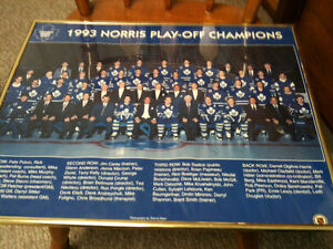 Toronto maple leafs   1993 norris champions framed photo 20 x 16 Kitchener / Waterloo Kitchener Area image 3