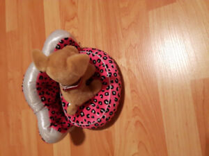 Dog bed for stuffed animal.