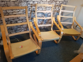 3 Ikea Poang Chair Frames