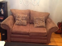MOCROFIBRE LIGHT BROWN  LOVE SEAT COMFY AND STYLISH