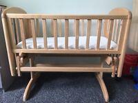 John Lewis Anna Glider Baby Crib, Natural