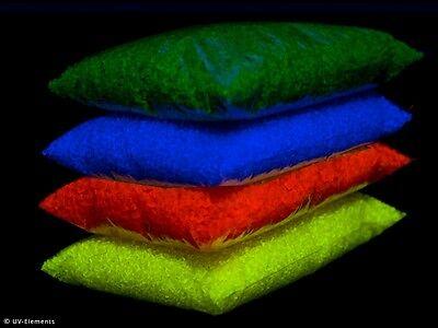 Leuchtgranulat 4x250g (gelb,grün,blau,orange) - Neon, Schwarzlicht, UV-aktiv