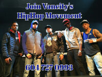 Hip Hop Studio for mentoring and recording.