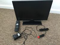 "12 volt and mains 18.5"" TV / DVD player"