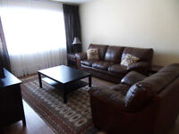 FURNISHED condo apartment - 2 bedrooms - excellent location
