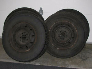 4 Nordic Winter Trac tires with rims Kitchener / Waterloo Kitchener Area image 1