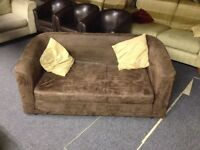 2 sofa bed brown cloth