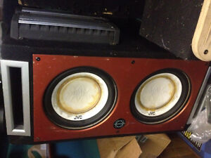 """12"""" Subs in Bassworks Box with Amp"""