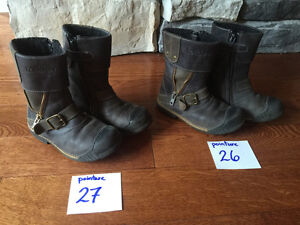 Bottines ''fashion'' en cuir pour enfants