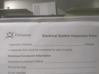 City of Oshawa electrical inspection for rentals