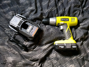 Ryobi 18V Lithium-Ion Cordless Drill With Charger
