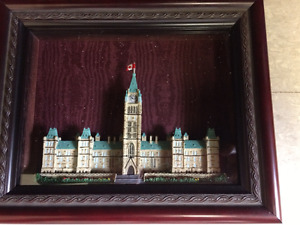 Miniature replicas of Parliament Building Centre Block