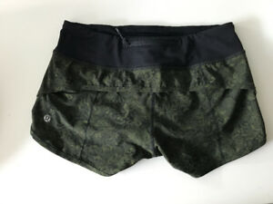 Lululemon Speed Short, Size 4, Green Floral