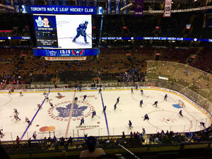 Pair of Leafs Playoff Tickets - 300 Level, Row 7, Aisle seat