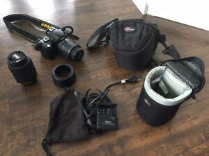 Nikon D60 + lentilles + case