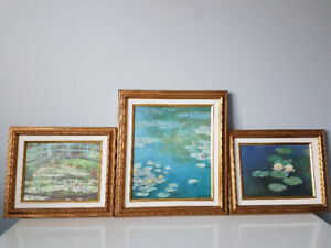 3 reproductions de Monet