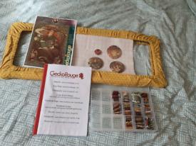 GeckoRouge Cross stitch kit - folk witch by Medusa Dollmaker