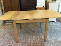 IKEA oak effect extending table