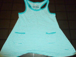 ROOTS - Light Blue Shark Bite Style Top - Size 5/6