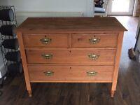 Vintage solid oak wooden drawers