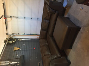 Brown leather sectional from Alford's