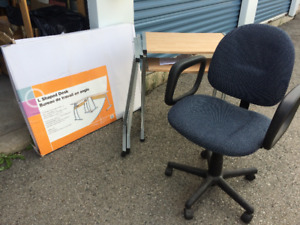 Office Desk and Chair: ideal for student or home office