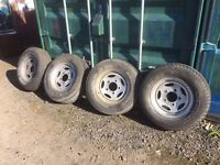 4 x LAND ROVER DEFENDER WHEELS & TYRES 235/70/16